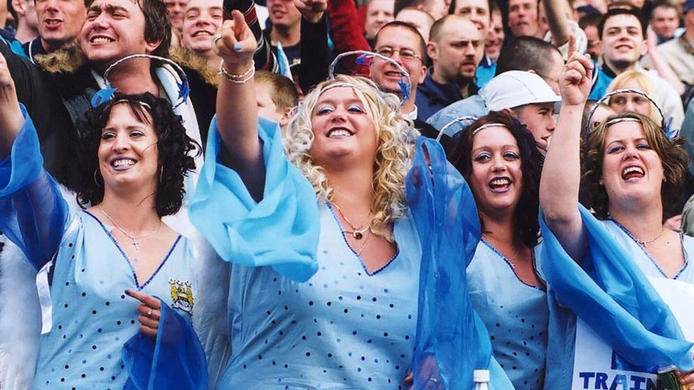 TRUE BLUES: These City fans made sure they were dressed for the occasion!