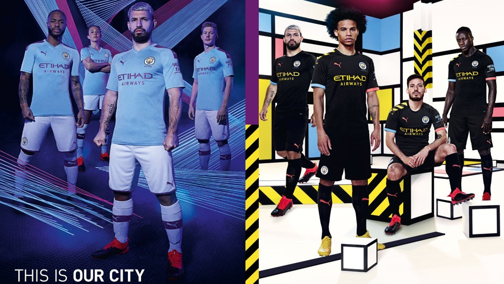 CITY x PUMA: Manchester City and PUMA today revealed their 2019/20 Home and Away kits, the first designs of their partnership, which pay tribute to Manchester's industrial and cultural heritage.