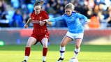 FAMILIAR FACE: Former Liverpool player, Laura Coombs, battles for the ball.