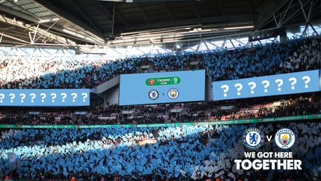 CARABAO CUP: We gave Cityzens two opportunities to help inspire the players and fans against Chelsea.
