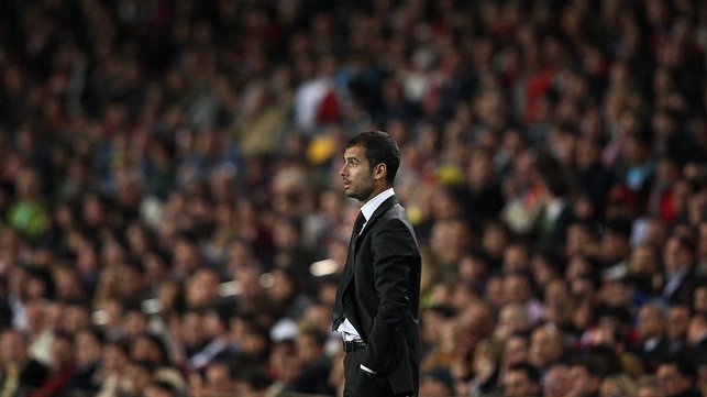 NEW ERA : After success with the club's B team Pep is appointed head coach at Barcelona