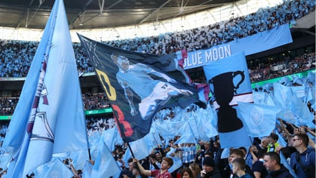 BLUE IS THE COLOUR: Wembley is awash with City fans