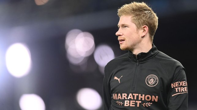GUESS WHO'S BACK? : Kevin De Bruyne makes his return to the match day squad after seven games out.