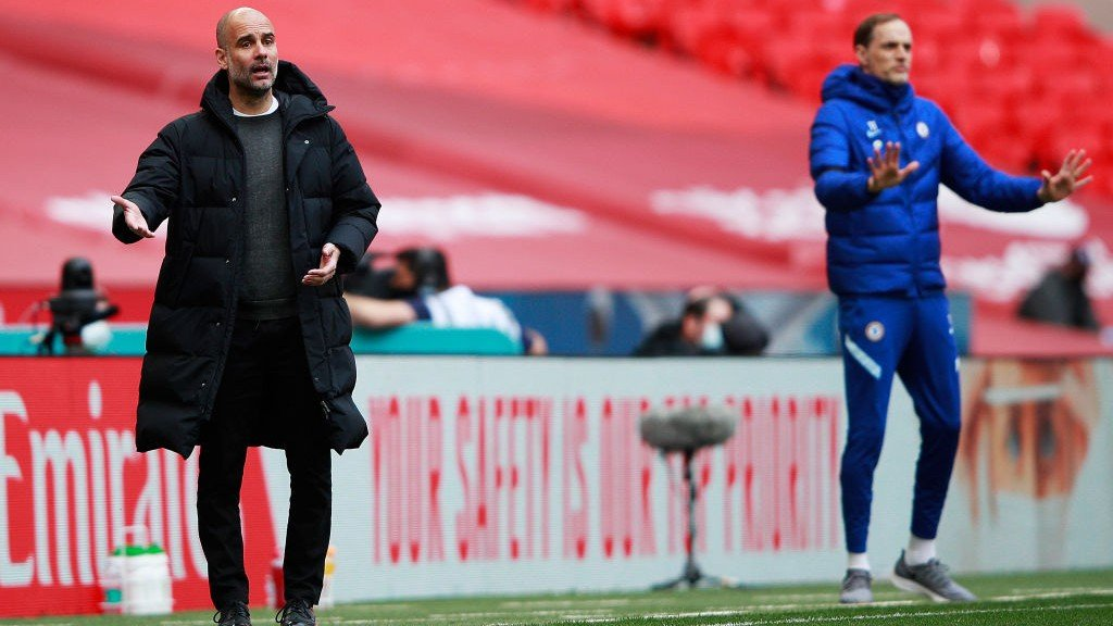 THE BOSS: Guardiola looks to get his message across