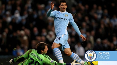 On this day: League Cup delight and Aguero is a Christmas cracker!
