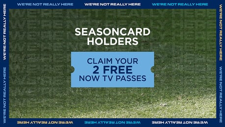 Two NOW TV day passes on offer to all City seasoncard holders