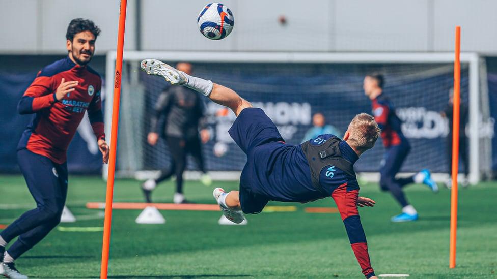 FLYING HIGH: Oleksandr Zinchenko takes to the CFA skies!