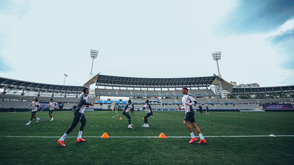 GET LOOSE : The players get put through their paces.