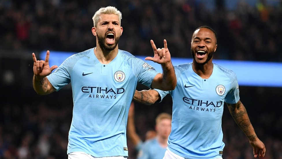 25 AND COUNTING : Sergio celebrates with Raheem