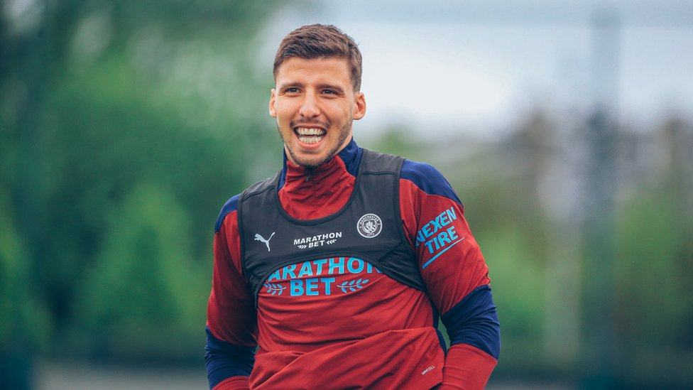 SIMPLY THE BEST : A smile from Ruben Dias after picking up the Football Writers' Footballer of the Year award earlier this week!