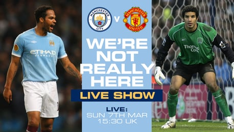 Lescott and James in WNRH studio for Manchester Derby