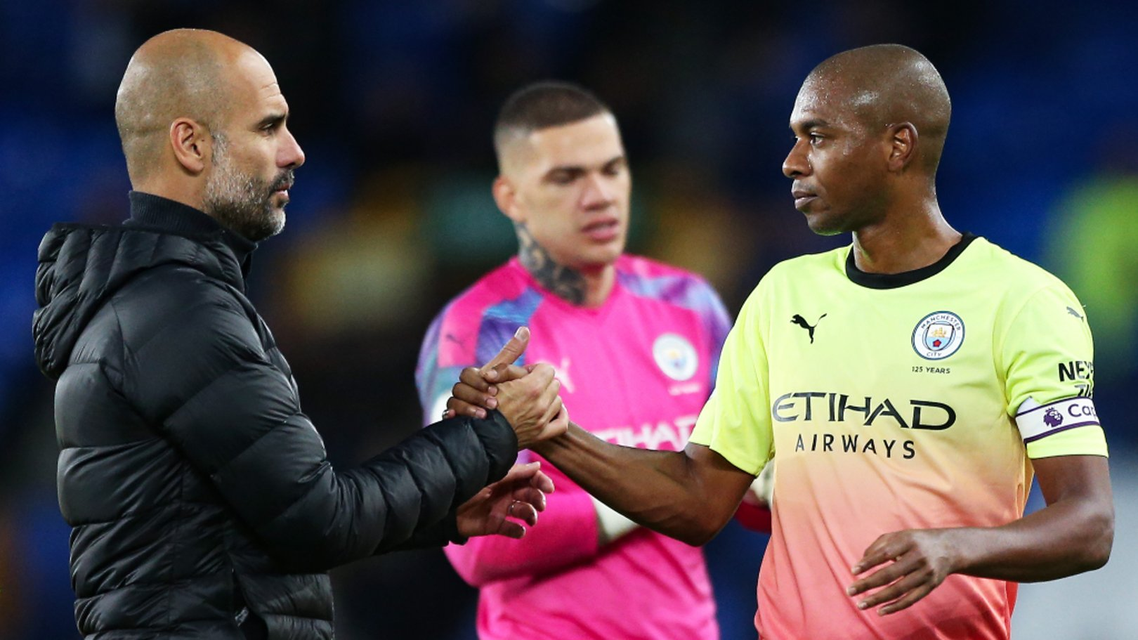 PEP TALK: Fernandinho credited Pep Guardiola for his impressive displays as a stand-in centre-back.