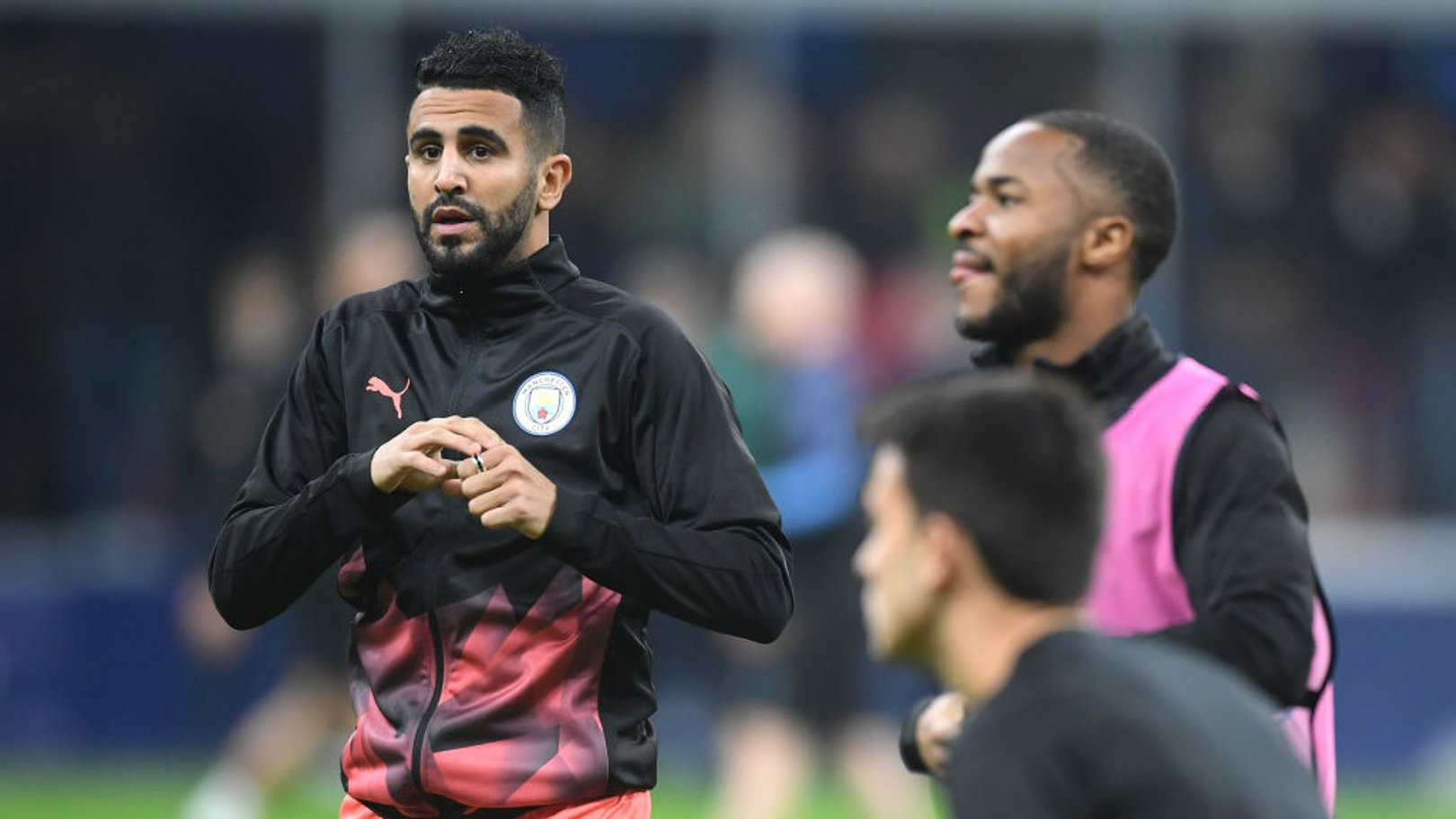 BACK: Riyad Mahrez is one of five changes for City's Champions League clash with Atalanta.