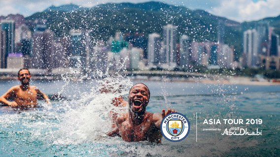 RECOVERY TIME: The boys took some time to relax in Hong Kong