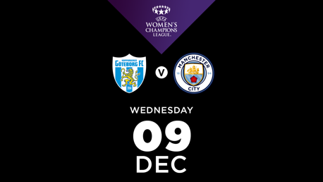 Watch Goteborg FC v City in the UWCL live on CITY+