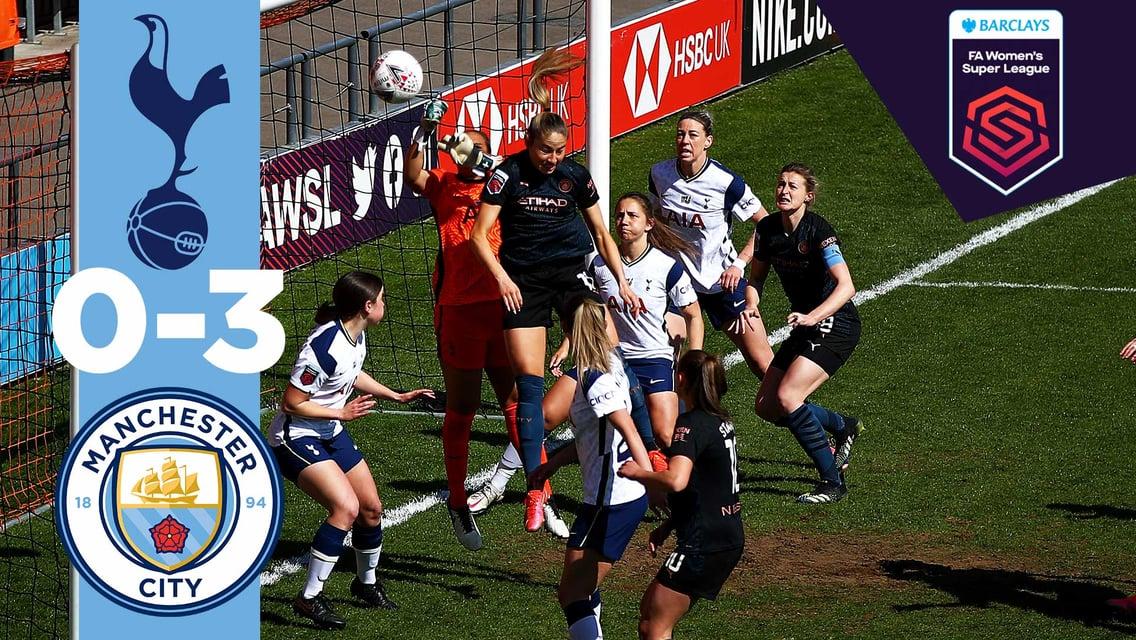 Match highlights: Spurs 0-3 City