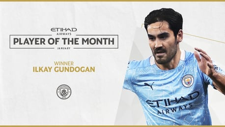 Gundogan voted Etihad Player of the Month