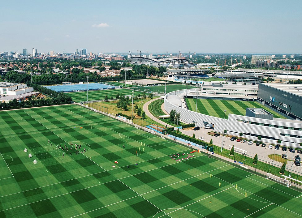 More summery drone shots of the first team training pitches