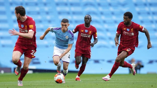 FO-RUN : The lively Foden leads an early City attack.
