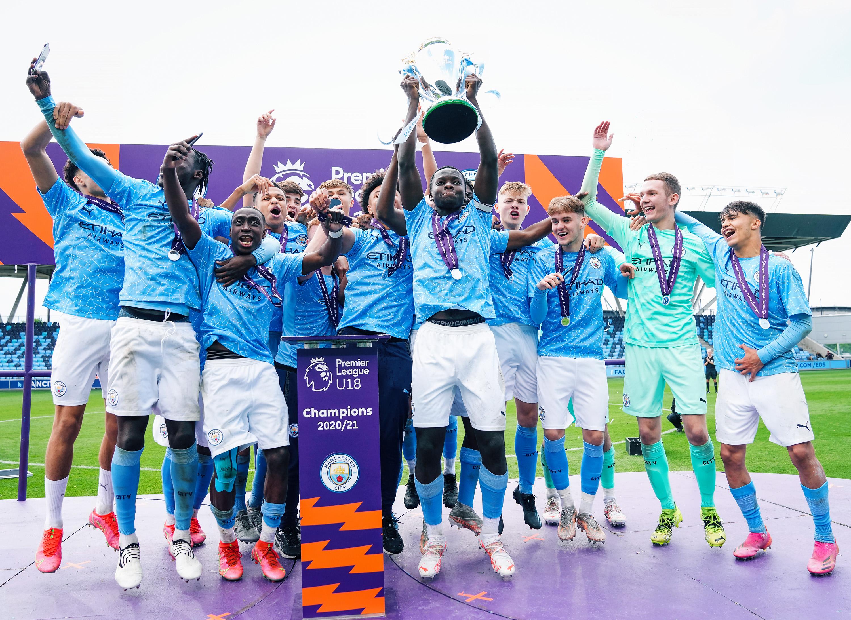 SILVER DREAM MACHINE: City lift the Under-18 Premier League National title