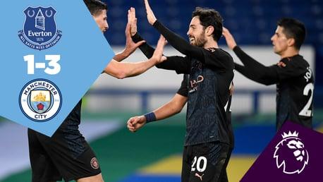 Everton 1-3 City: Full-match replay