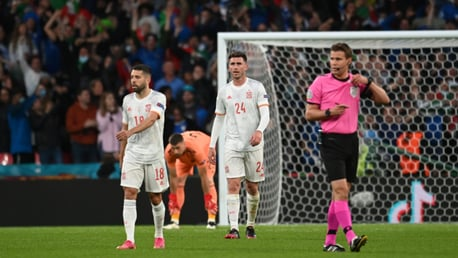 Penalty heartbreak for City trio as Spain bow out in Euro 2020 semis