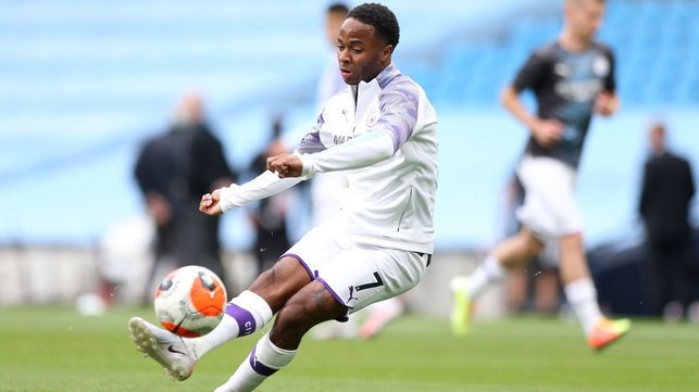 BEND IT LIKE RAZ : Sterling sharpens up as kick-off approaches.