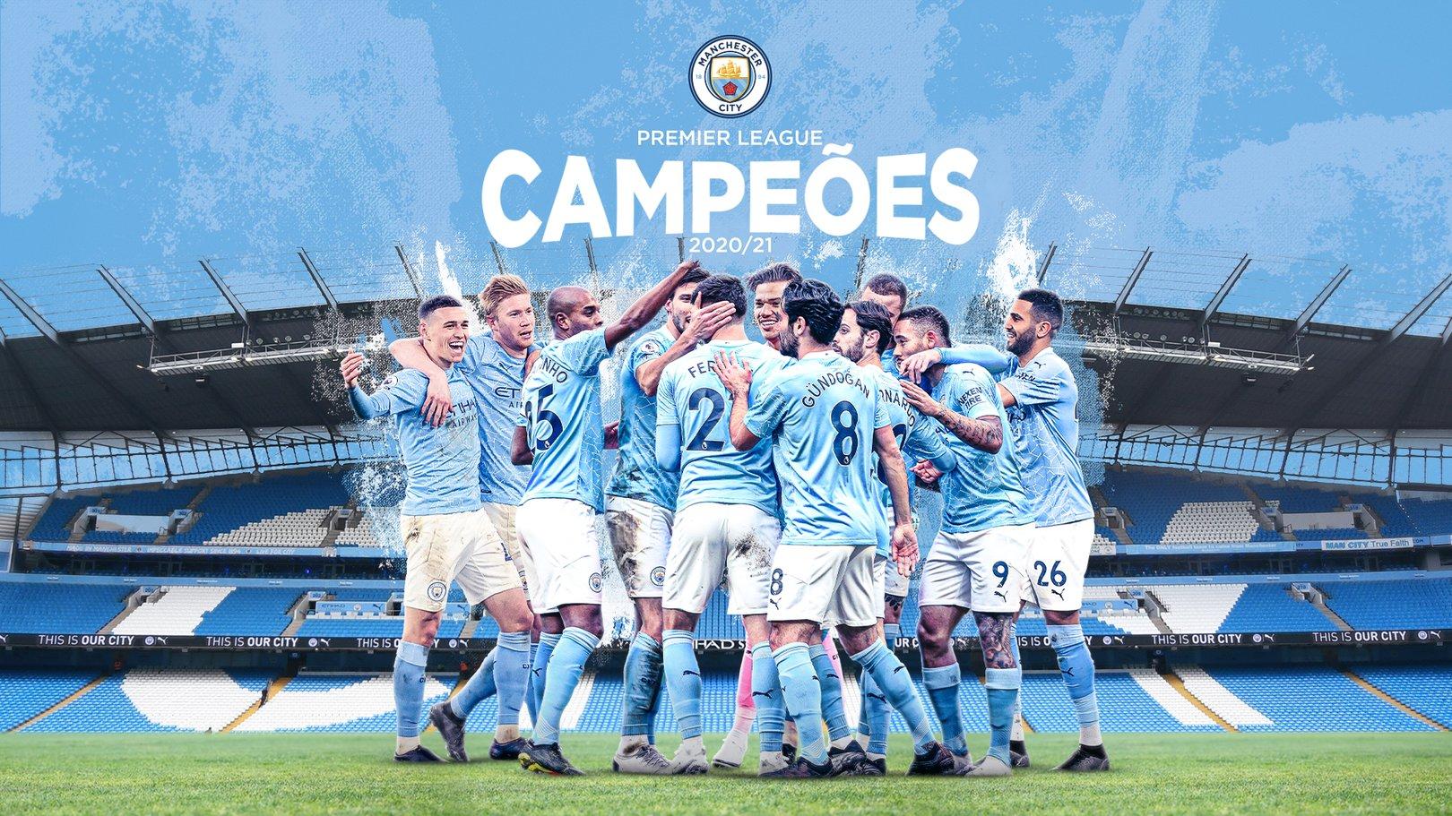 O Manchester City é campeão da Premier League 2020/2021