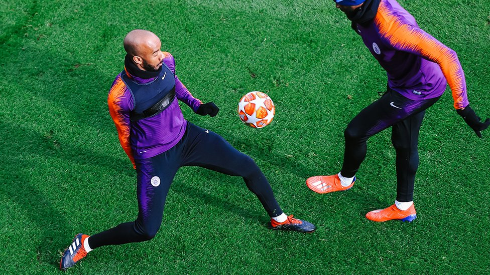 JUST FAB : Delph brings his usual energy to the session