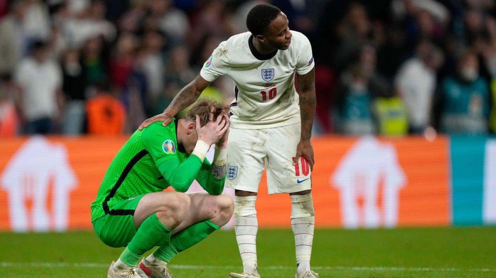유로 2020 결승전 승부차기에서 쓰라린 패배를 당한 잉글랜드와 CITY 트리오