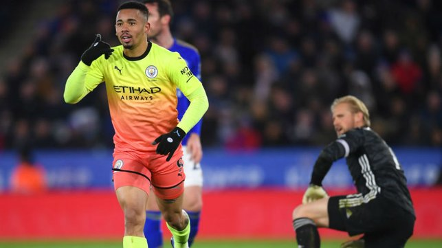 GIFT OF THE GAB: Gabriel Jesus starts the celebrations after his crucial goal