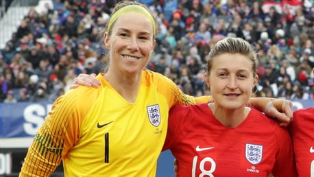 READY TO ROAR: Karen Bardsley is excited to link up with fellow Lioness Ellen White at Club level