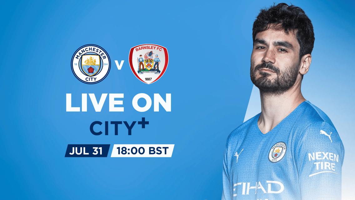 WATCH LIVE: City v Barnsley