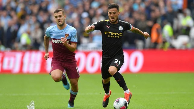 LEADER : David Silva orchestrates proceedings from midfield.