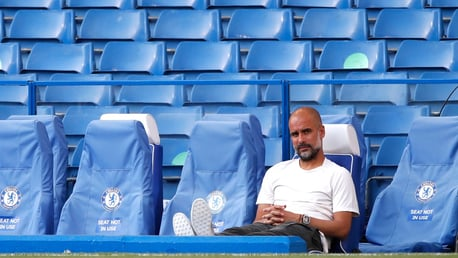 COOL PEP: The boss enjoying some alone time in the dugout.
