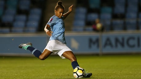 PARRIS LIFE: Nikita Parris bagged a brace in the win over Everton...