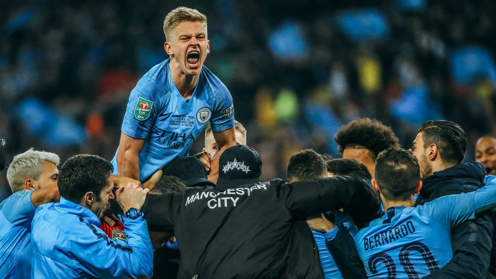 JOY : Carabao Cup winners and Aleks' face says it all!